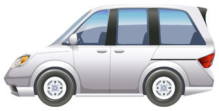 A minivan. Illustration of a minivan on a white background Royalty Free Stock Images