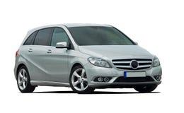 Minivan, mpv, gray car isolated Stock Image