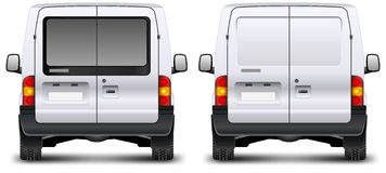 Minivan rear view Royalty Free Stock Images