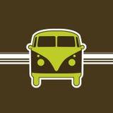 Minivan retro Foto de archivo libre de regalías