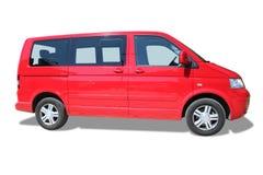 Minivan rojo Imagenes de archivo