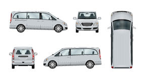Minivan vector template stock illustration