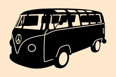 Minivanhippiekontur Royaltyfri Bild