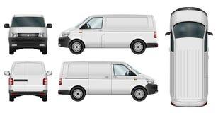 Minivanvektormall stock illustrationer