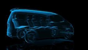 miniver Czarna i błękitna połysk formacja Wzorcowa Duża ciężarówka 360 stopni Wirować 4k promieniowania rentgenowskiego animacji  zbiory