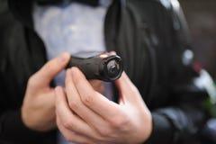 Minivideocamera royalty-vrije stock afbeeldingen
