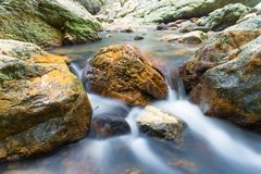 Minivijver door Namuang Water falll Koh Samui thialand royalty-vrije stock afbeeldingen