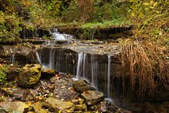 Miniwaterdalingen royalty-vrije stock afbeelding
