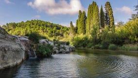 Miniwaterval van nielles in Occitania stock video