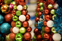 Miniweihnachtsbäume Stockfotos