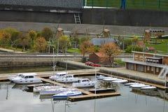 Miniyacht-Klumpen in Madurodam. Lizenzfreie Stockfotos