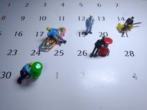 Minizahl, Sitzung, Zeitplaneinstellung stockbild