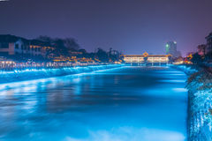Minjiang river at night Royalty Free Stock Photo