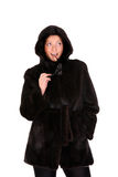 Mink coat Royalty Free Stock Image