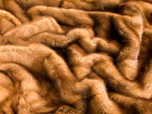 Mink fur. Closeup of the luxury brown mink fur texture stock photo