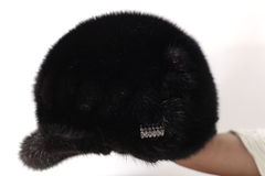 Mink fur hat Stock Photo