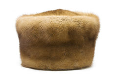 Mink hat closeup Royalty Free Stock Images