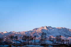 Minle County in Zhangye Qilian golden sunshine Royalty Free Stock Image