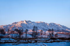 Minle County in Zhangye Qilian golden sunshine Stock Images