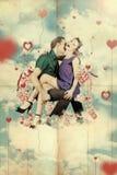 Minnaar op st de dag van de valentijnskaart royalty-vrije stock foto's