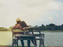 Minnaardaling van liefde samen Royalty-vrije Stock Afbeelding