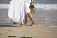 Minnaars op strand Royalty-vrije Stock Foto