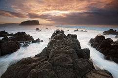 Minnamurra und Stapel-Insel stockfotografie