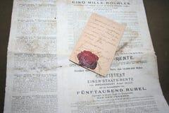 Minne av det blodiga första världskriget av 1914 och revolutionen av 1917 arkivbilder