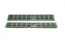 Minne för slumpmässigt tillträde RAM för server på vit Royaltyfri Fotografi