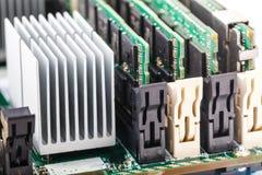 Minne för tillträde för närbildgräsplanDDR RAM Double Data Rate Random arkivfoton