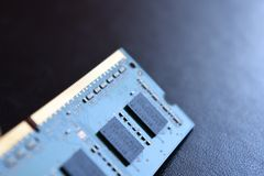Minne RAM DDR för datorbärbar datorPC arkivbild