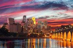 Minneapolis. Image of Minneapolis downtown at twilight Royalty Free Stock Photos