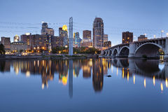 Minneapolis. Image of Minneapolis downtown at twilight Stock Photo