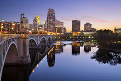 Minneapolis. Image of Minneapolis downtown skyline at sunset Royalty Free Stock Photos