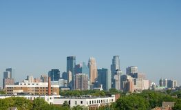 Minneapolis. Downtown minneapolis Minnesota skyline during the day time Stock Photo