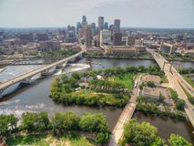Minneapolis Skyline in Minnesota, USA stock images