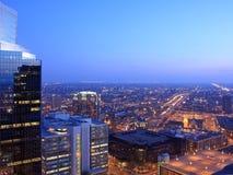 Minneapolis bij schemer Royalty-vrije Stock Fotografie
