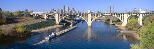 Minneapolis bridge Stock Photo