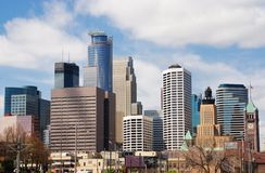 Minneapolis city skyline Royalty Free Stock Images