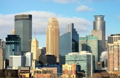 Minneapolis city skyline Royalty Free Stock Image