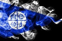 Minneapolis city smoke flag, Minnesota State, United States Of America.  stock illustration