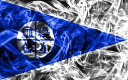Minneapolis city smoke flag, Minnesota State, United States Of A. Merica Royalty Free Stock Image