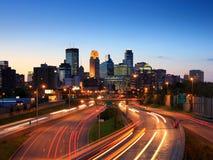 Minneapolis del centro fotografie stock libere da diritti