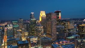Minneapolis en la noche metrajes