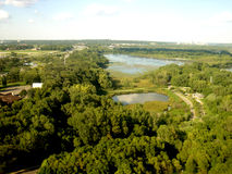 Minneapolis - foto de um plano Fotos de Stock Royalty Free