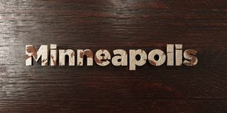 Minneapolis - grungy wooden headline on Maple  - 3D rendered royalty free stock image Royalty Free Stock Photography