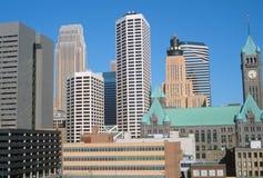 Minneapolis, horizonte del manganeso foto de archivo libre de regalías
