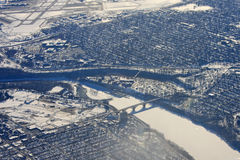 Minneapolis i vinter Royaltyfri Bild