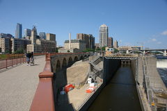Minneapolis Infrustructure. A picture of Minneapolis Infrustructure on a good day stock images
