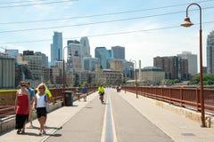 Minneapolis linia horyzontu Zdjęcia Royalty Free